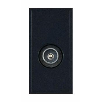 Coaxial Socket Eurodata Module Male Non-Isolated without Faraday Cage - Black
