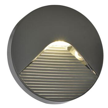 Breez Round Surface Guide 2W LED Light IP65 Anthracite With Slatted Diffuser - CZ-29193-ATR