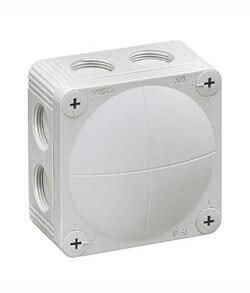 Wiska Combi Outdoor Electrical Junction Box - IP66 - Off White / Light Grey