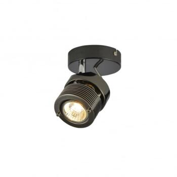 Pedro Single Light Ceiling Or Wall Spot Light Fitting In Black Chrome Finish - INL-28201-BCHR