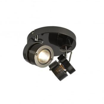 Pedro 2 Light Ceiling Spot Light Fitting In Black Chrome Finish - INL-28202-BCHR