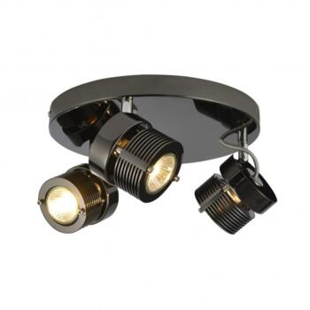 Pedro 3 Light Ceiling Spot Light Fitting In Black Chrome Finish - INL-28203-BCHR