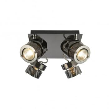 Pedro 4 Light Ceiling Spot Light Fitting In Black Chrome Finish - INL-28205-BCHR