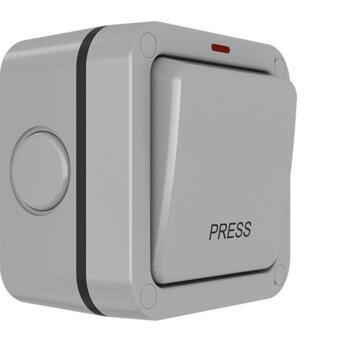 IP66 Outdoor Weatherproof Press Switch - Single