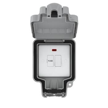 IP66 Single Outdoor Switched Fused Spur - 1 Gang