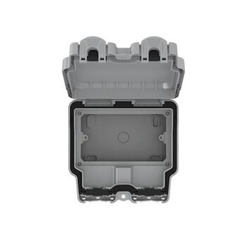 IP66 Double Outdoor Weatherproof Enclosure - 2 Gang