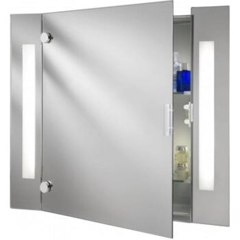 Lighting 6560 Bathroom Low Energy Mirror Cabinet With Shaver Socket 600mm x 660mm - 6560