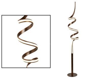 Ribbon LED Twist Floor Lamp Rustic Black & Gold Finish  - 2813RU