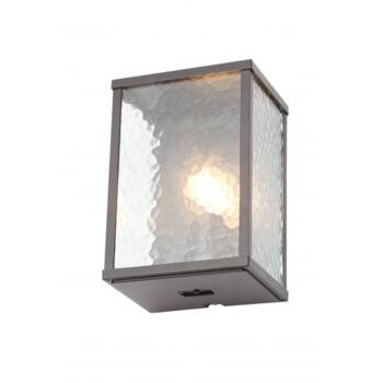Keb Single Light Outdoor Wall Fitting in Black finish With Clear Glass Panels - ZN-32069-BLK