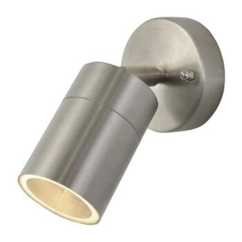 Leto Single Light Outdoor Wall Light in Stainless Steel Finish - ZN-26536-SST