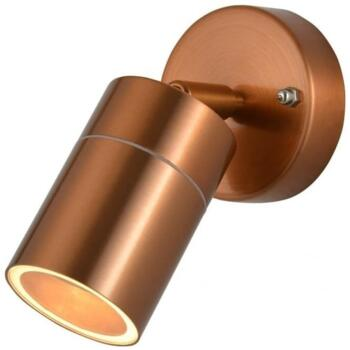 Leto IP44 Single Light Outdoor Wall Light in Copper Finish - ZN-26536-COP