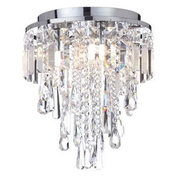 Bresna 28cm Mixed Crystal Flush Bathroom Ceiling Light - SPAP-31450-CHR