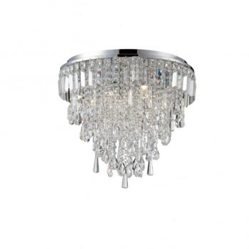Bresna 6 Warm White LED Crystal Flush Ceiling Fitting in Polished Chrome  - SP-25201-CHR