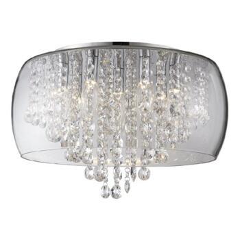 Nore Large Encased Flush Bathroom Ceiling Light - WF-25210-CHR