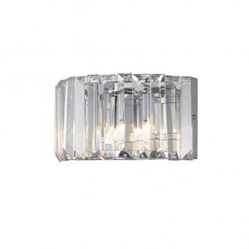 Foyle 2 Light Crystal Bathroom Wall Light in Polished Chrome Finish - WF-25243-CHR