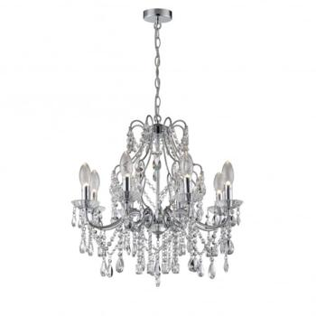 Annalee 8 LED Bathroom Ceiling Chandelier in Polished Chrome Finis - WF-25255-CHR