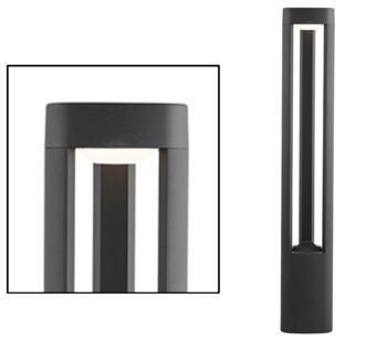 Michigan 1 light Outdoor LED Post Light Dark Grey Finish 500mm - 1005-500GY