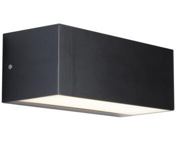Dark Grey 1 Light Outdoor LED Wall Light  - 8735GY