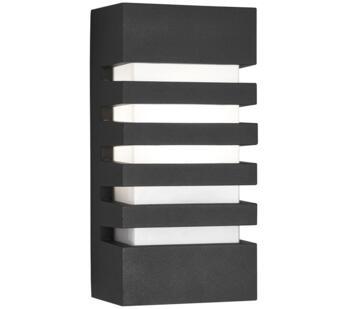 Dark Grey 1 Light Outdoor Flush Rectangular Wall Light  - 3393GY