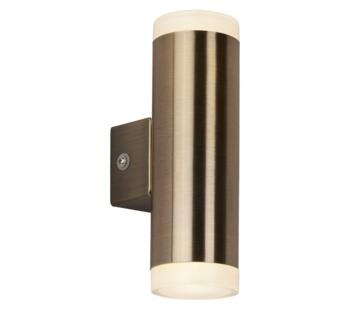 2 Light Outdoor LED Wall Light Antique Brass Finish - 2100AB