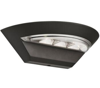 1 Light Outdoor LED Wall Light Dark Grey Finish - 5122GY