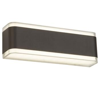 LED Outdoor Wall Light Dark Grey & Clear Finish - 3671GY