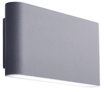 1 Light Outdoor LED Wall Light Grey Finish With Frosted Diffuser - 2562GY