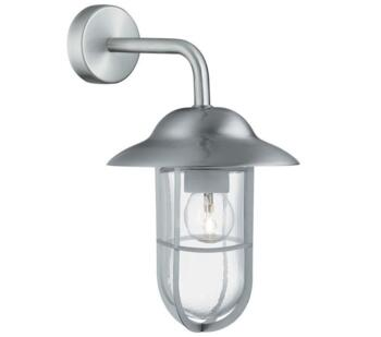 Toronto 1 Light Outdoor Wall Lantern, Stainless Steel Finish - 3291SS