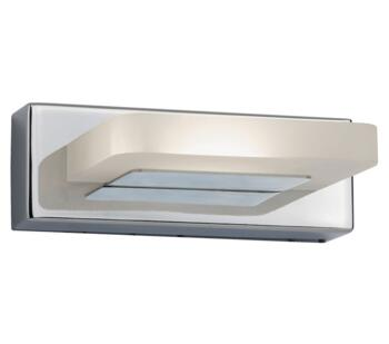 1 Light LED Wall Light, Chrome Finish With Frosted Glass - 3752CC