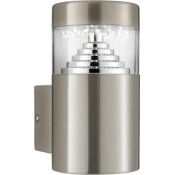 Outdoor LED Wall Light Brushed Chrome IP44 - 7508
