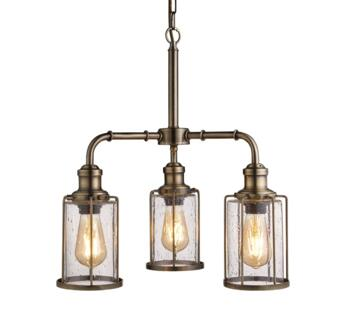 3 Light Ceiling Pendant Antique Brass Finish - 1163-3AB