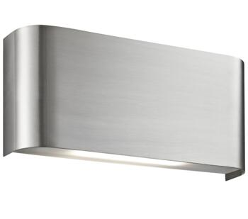2 Light LED Up/Downlighter Wall Light Satin Silver - 1953SS