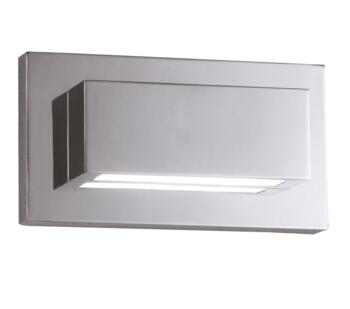 Switched LED Up/Downlighter Wall Light Chrome - 1752CC