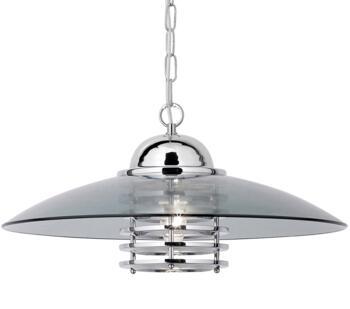 1 Light Pendant Light Chrome & Smoked Glass **out of stock till 4/3/21** - 1300CC