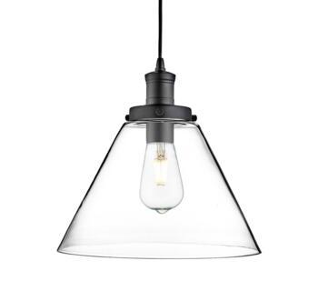 1 Light Black Pendant Ceiling Light - Black Available 12/12/21
