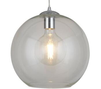 Round Clear Glass Pendant Light - 250mm