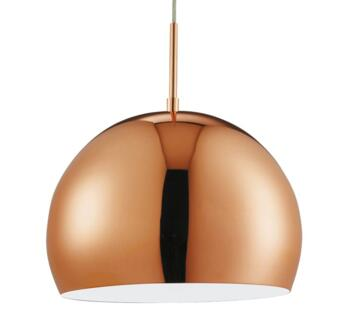 Ball Pendant Light Copper Shade  - Copper 30mm Diameter