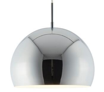 Ball Pendant Light Chrome Shade - Chrome 30mm Diameter