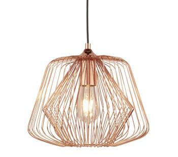 Vintage Bell Cage Shiny Copper Pendant  - 0211CU