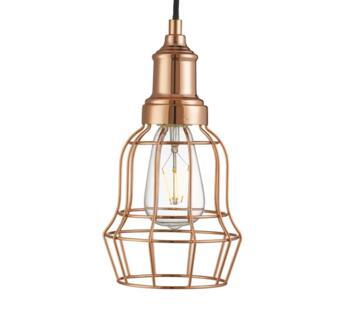 Vintage Bell Cage Copper Pendant   - 6847CU