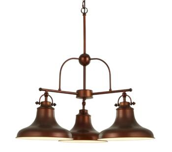 Antique Bronze 3 Light Industrial Pendant - 3183-3BZ