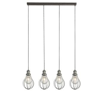 Pewter Cage 4 Light Bar Pendant - 1384-4PW