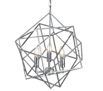Chrome 3 Light Cage Pendant  - 7863-3CC