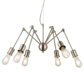 Satin Silver  6 Light Ceiling Pendant - 4756SS
