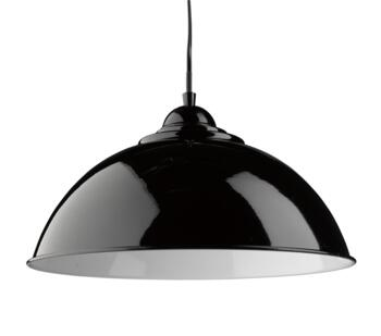 Black Dome 1 Light Metal Pendant Shade