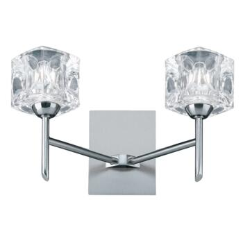Ice Cube Satin Silver LED Wall Light  - 4342-2-LED