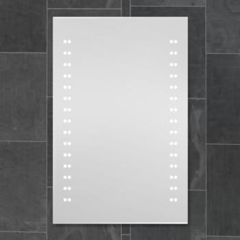 Clayburgh Battery LED Bathroom Mirror 700 x 500mm - Illuminated