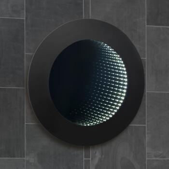 Round Led 3d Infinity Effect Illuminated Bathroom Mirror