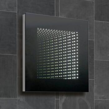 Knightley 3D Infinity LED Bathroom Mirror 500mm x 500mm - Square