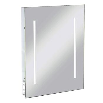 IP44 LED Rectangular Mirror with Dual Voltage Shaver Socket 390mm x 500mm - RCTM2LED
